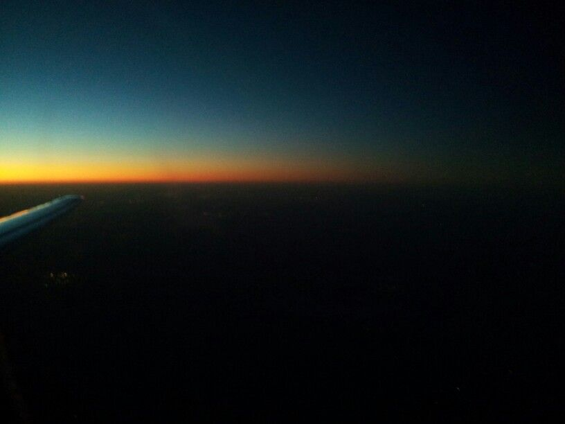 Flying at Sunset....beautiful!