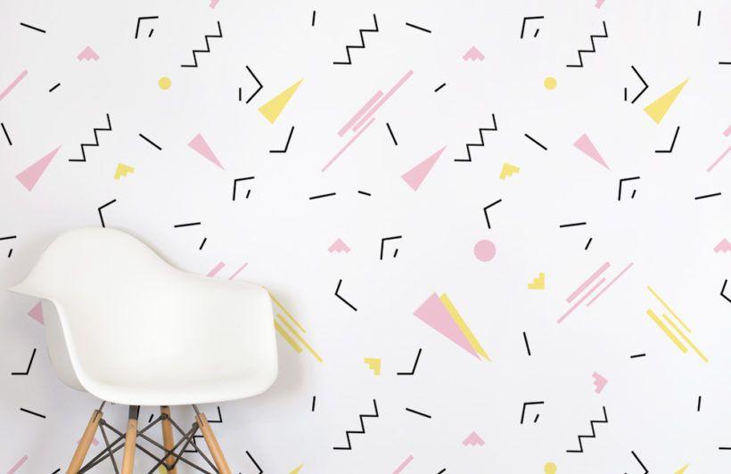 Pink 90's Wallpaper | Simplistic Retro Design