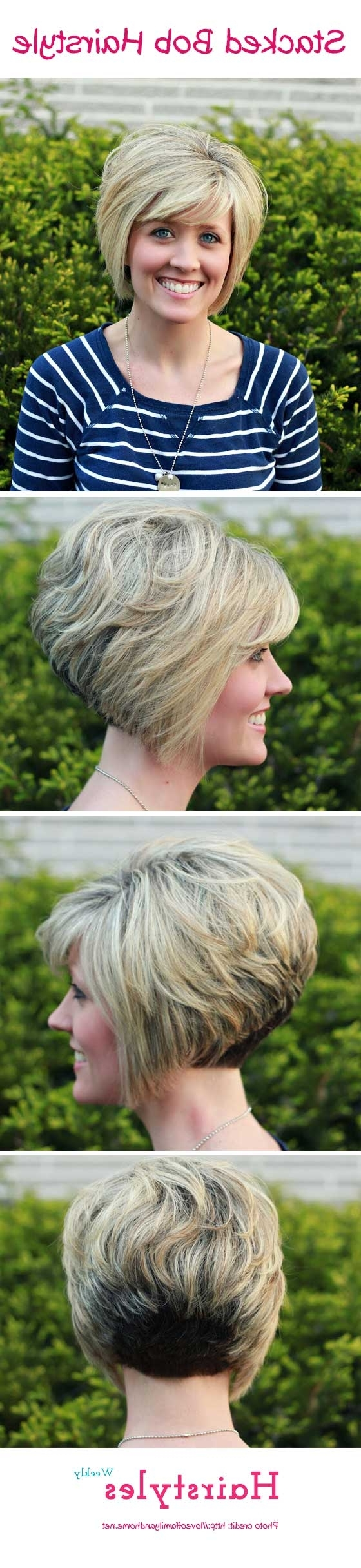 Short Stacked Haircuts For Thick Hair Gorgeous Stacked Bob Hairstyle