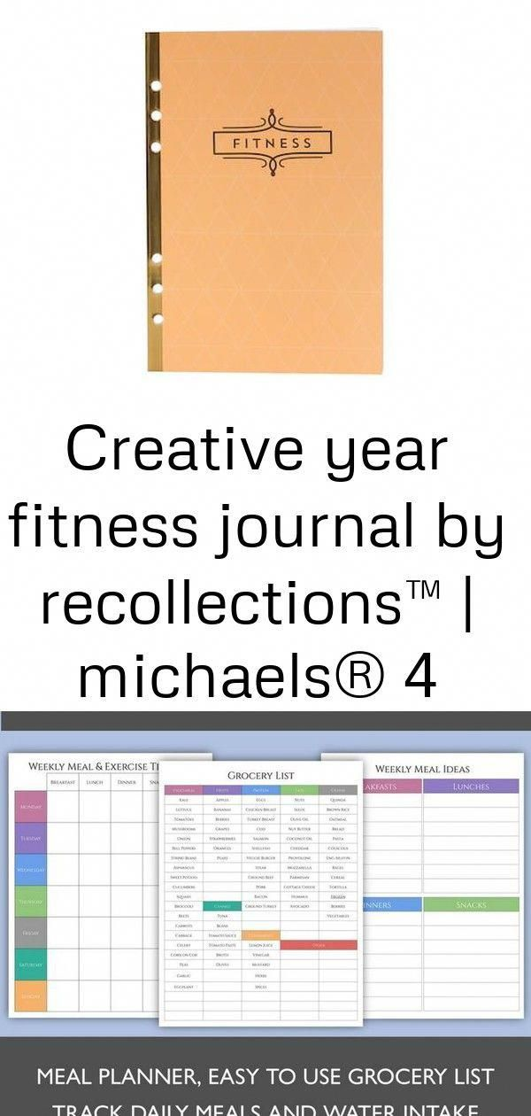 Creative Year Fitness Journal By Recollections™ | Michaels® #8Page #Complete #diet planner #Fitness...