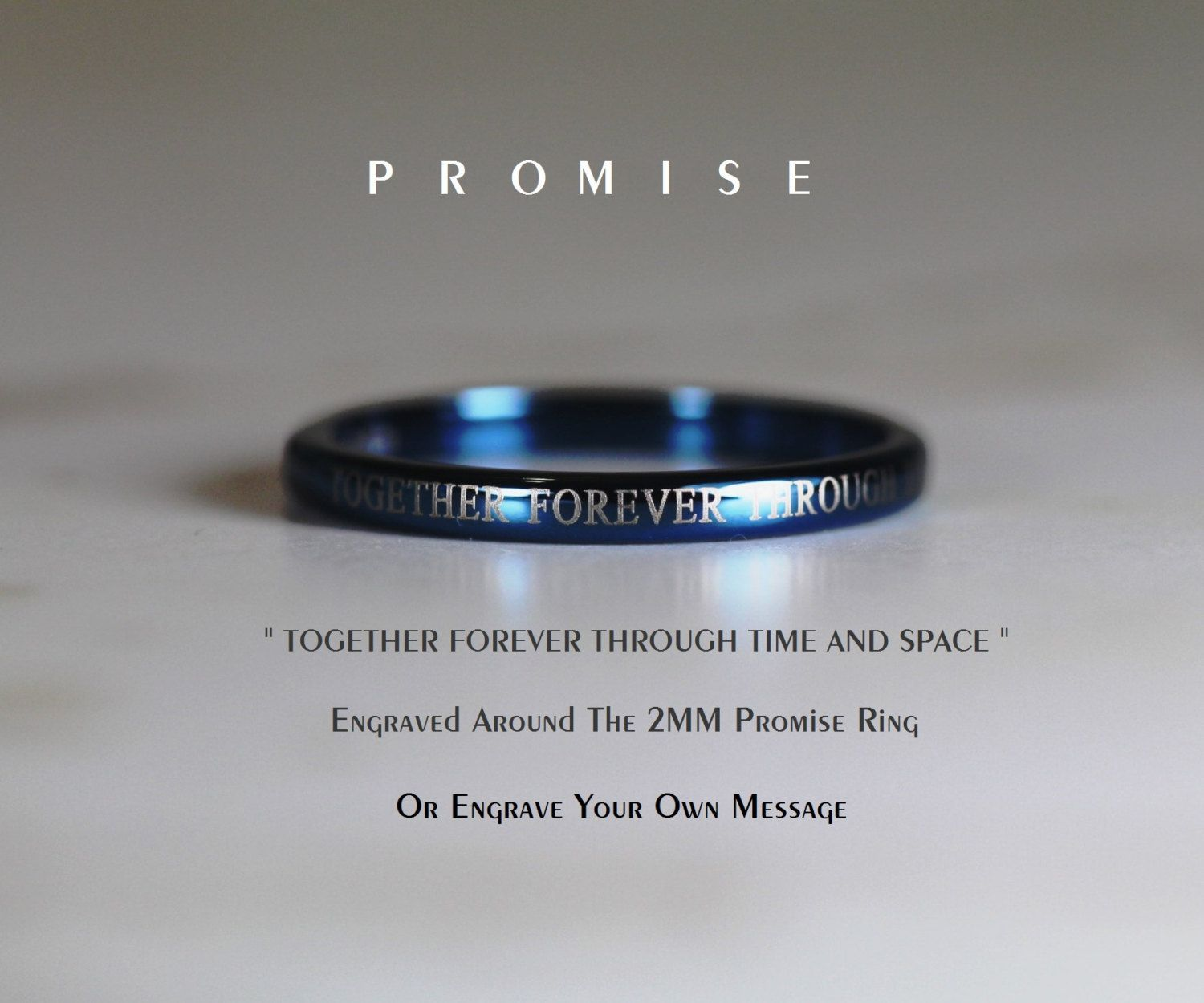 Blue Doctor Who His 8mm Tungsten And Hers 4mm By Cloud9tungsten Doctor Who Wedding Cz Wedding Ring Sets Tungsten Promise Rings