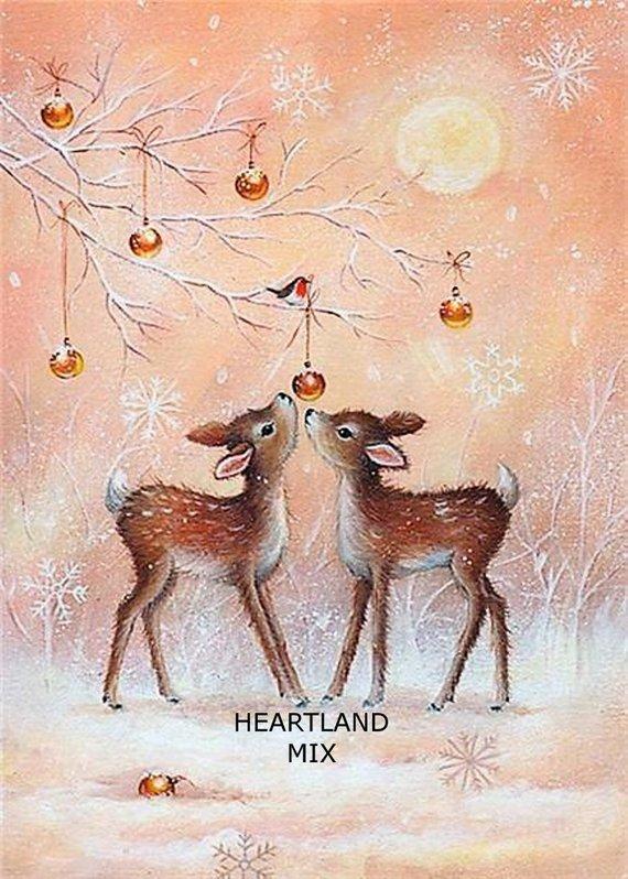 Printable Juvenile Christmas Wrapping Paper Digital Image Download Printable 300 DPI Christmas Carousel