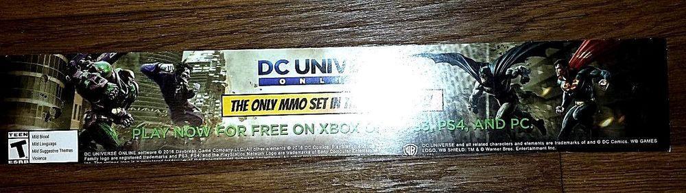 "DC UNIVERSE ONLINE PROMOTIONAL POSTERBOARD 26"" LENGTH #DCMARVEL"