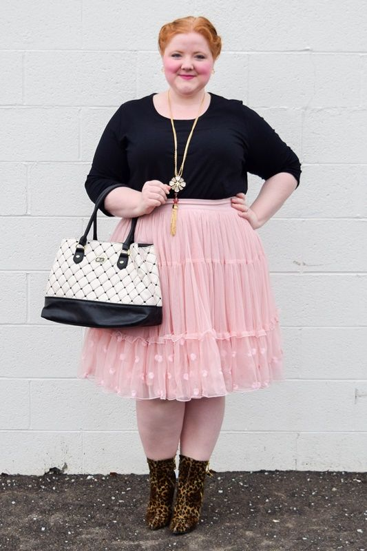 26efad4e7b8d4 Style Remix  3 Ways to Wear a Petticoat Skirt this winter! I review this  plus size Embroidered Tiered Tulle Skirt from Lane Bryant and style it  three ways!