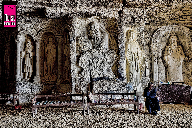 Felsenkirche des hl. Schenuda des Archimandriten, Sohag, Ägypten (Niltalführer S. 285). http://amzn.to/2sDId4t