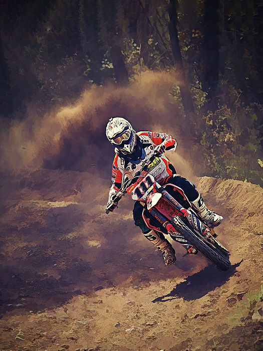 Dirt Biker Over The River And Through The Woods With Images