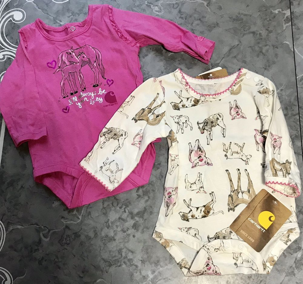 eb974c956 Carhartt baby girl horse farm animal one piece size 3 month set of 2 bnwt  #fashion #clothing #shoes #accessories #babytoddlerclothing ...
