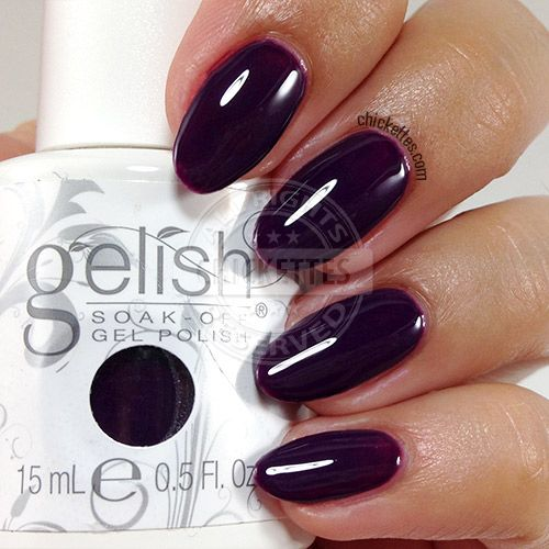 Gelish Urban Cowgirl Collection Swatches Chickettes Soak Off Gel Polish Swatches Nail Art And Tutorials Dark Gel Nails Gelish Nail Colours Gel Nail Colors