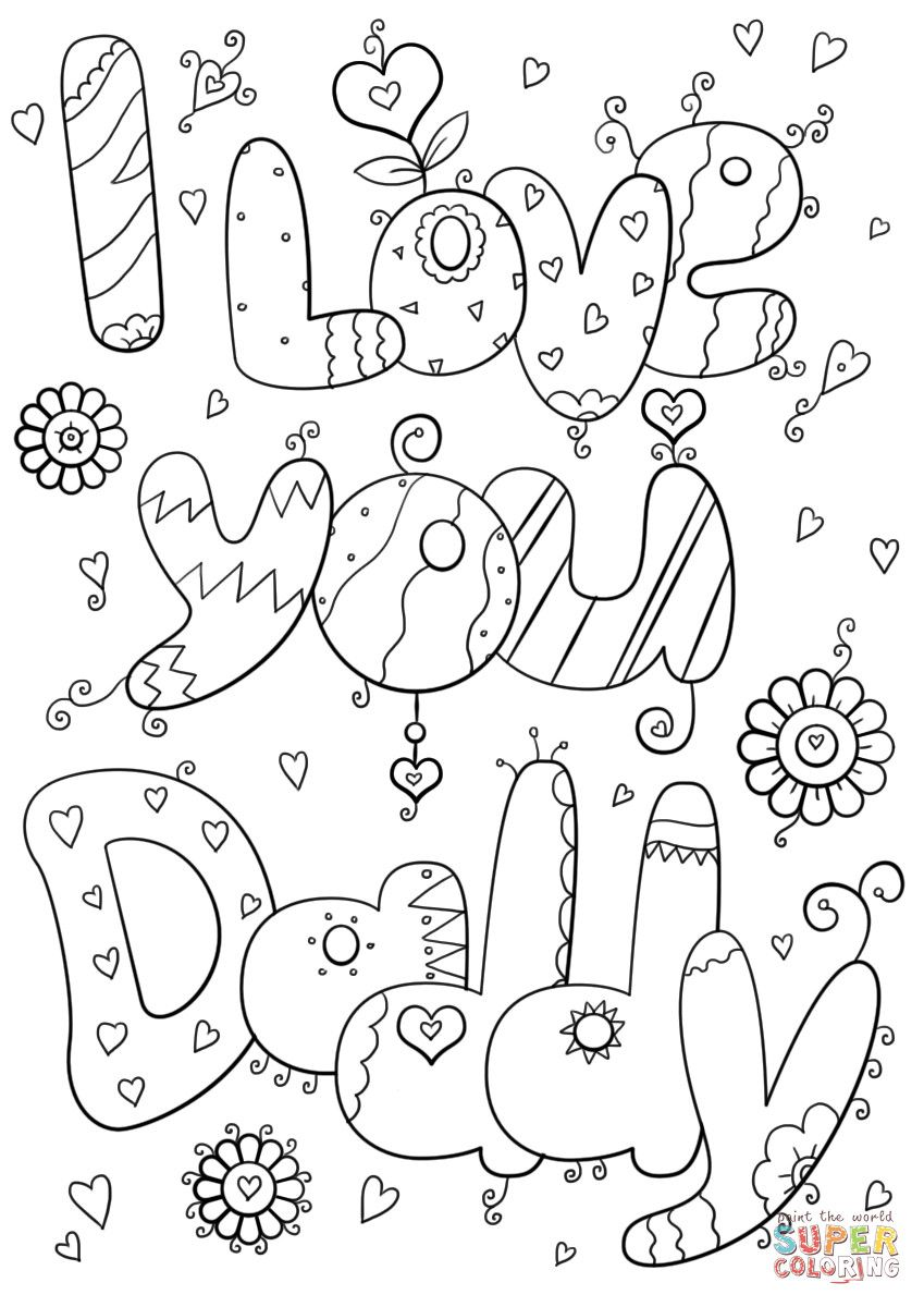 25 Best Of I Love You Coloring Pages in 2020 I love my