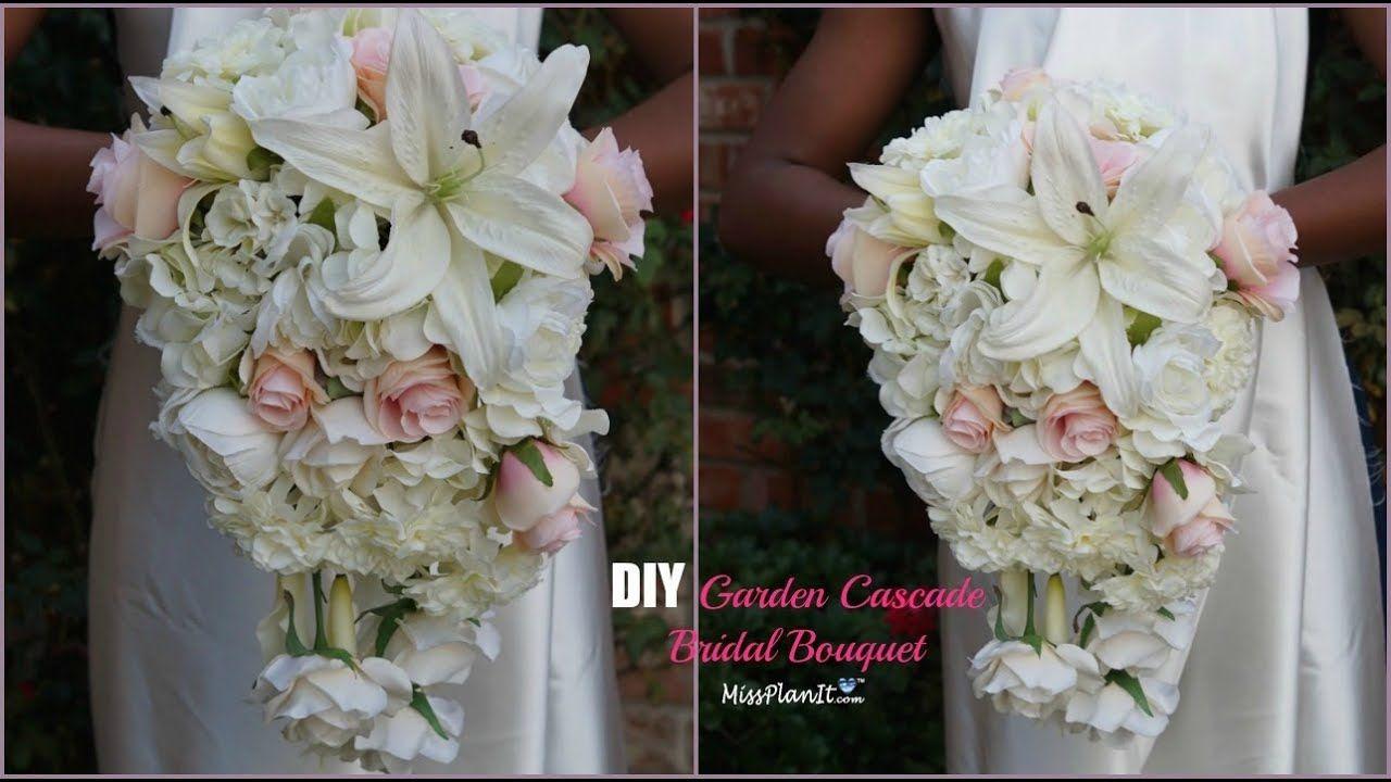 DIY Garden Cascading Bridal Wedding Bouquet DIY Wedding