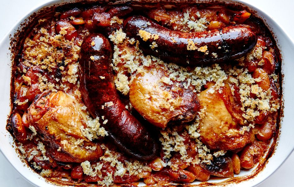 This riff on a classic cassoulet skips most of the exotic ingredients and elaborate preparation but still delivers deep rich flavor.