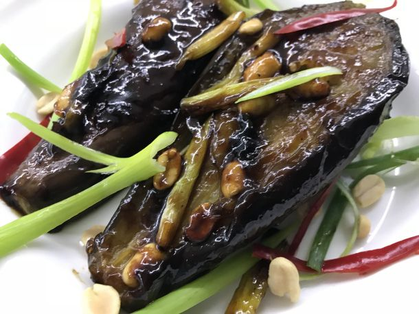 Jamie Oliver's Sticky Teriyaki Eggplant (Aubergine) is part of cooking Vegetarian Jamie Oliver - I'm cooking quite a few recipes from Jamie Oliver's 5 Ingredients at the moment  I love the simplicity of just a few basic ingredients  There are a wealth of good recipes in the book which are pre…