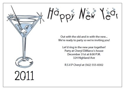 New YearS Eve Invitation Templates Free  Free Printable New