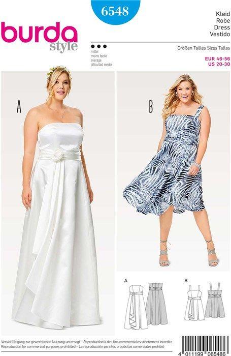 Patron De Robe Burda 6548 Rascol Bridal Dress Patterns Evening Dresses Dresses