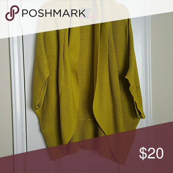 Short sleeved sweater jacket Soft woven lime green short sleeved sweater jacket Lane Bryant Sweaters Shrugs & Ponchos