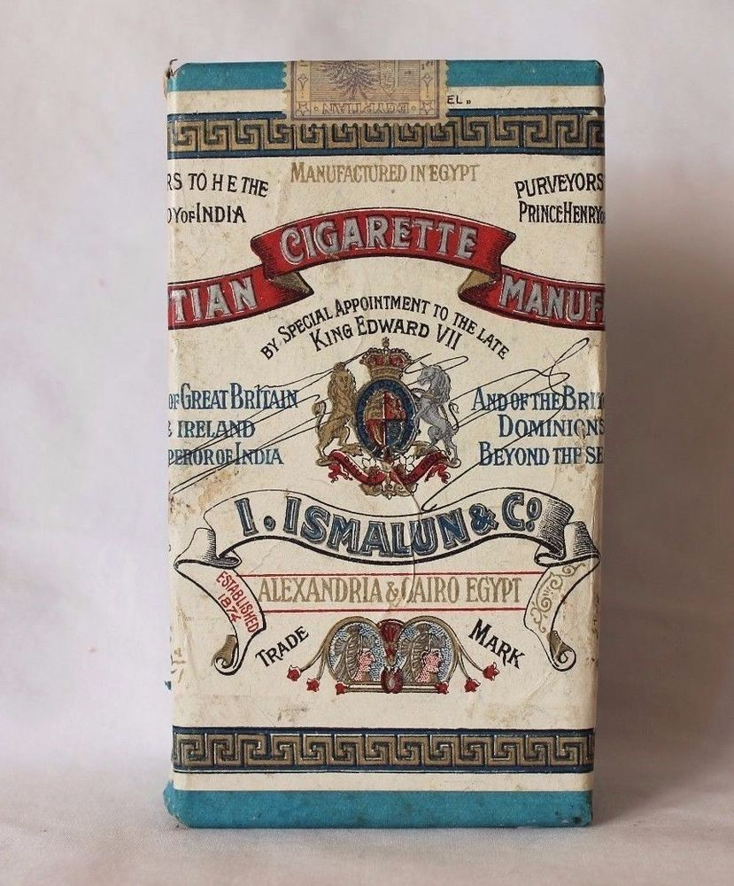 "Rare Early 1900's ""Ismalun & Co"" Egyptian Cigarettes Tin"