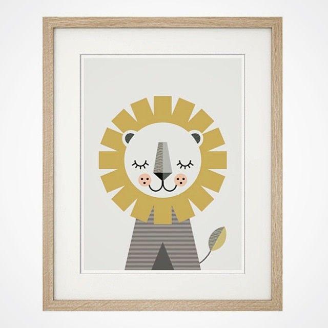Lion print by Little Design Haus. Nursery art, Animal print, Nursery ...