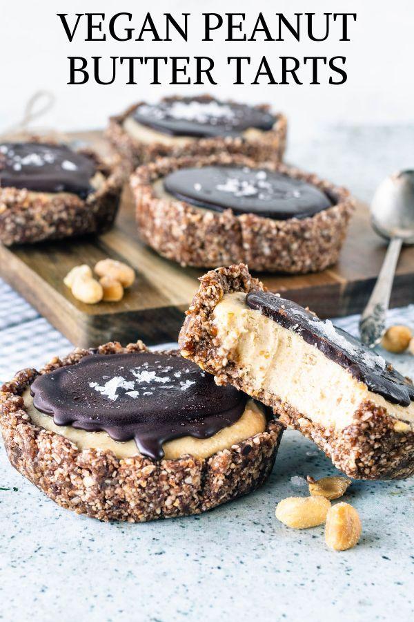 Vegan Peanut Butter Tarts Recipe Vegan Dessert Recipes Butter Tarts Vegan Desserts