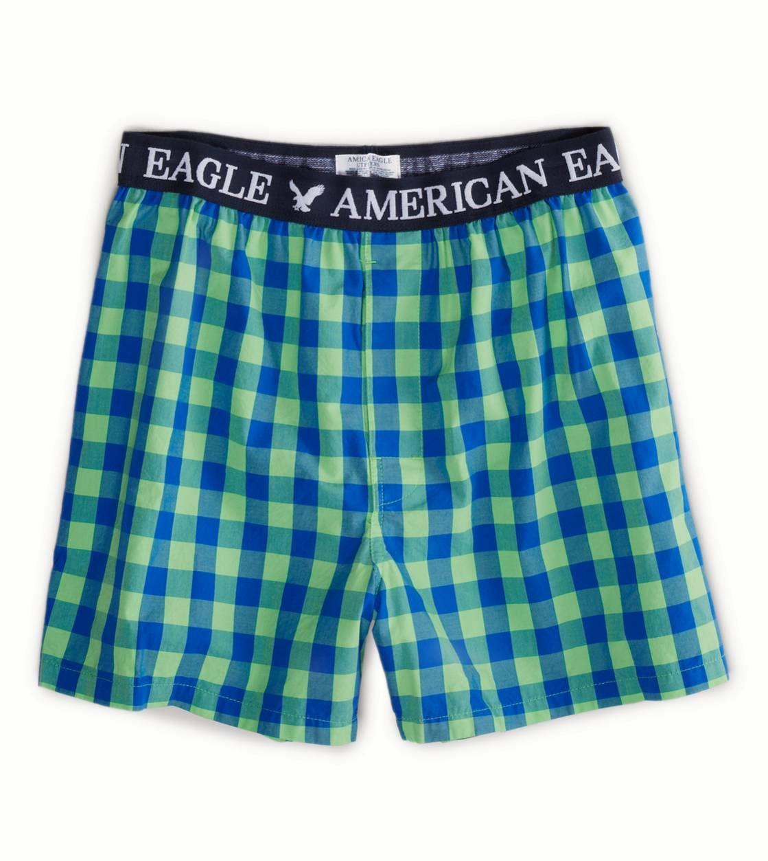 "L XL Mens American Eagle BLACK 2XL M WHITE PLAID  6/"" Boxer Brief Underwear S"