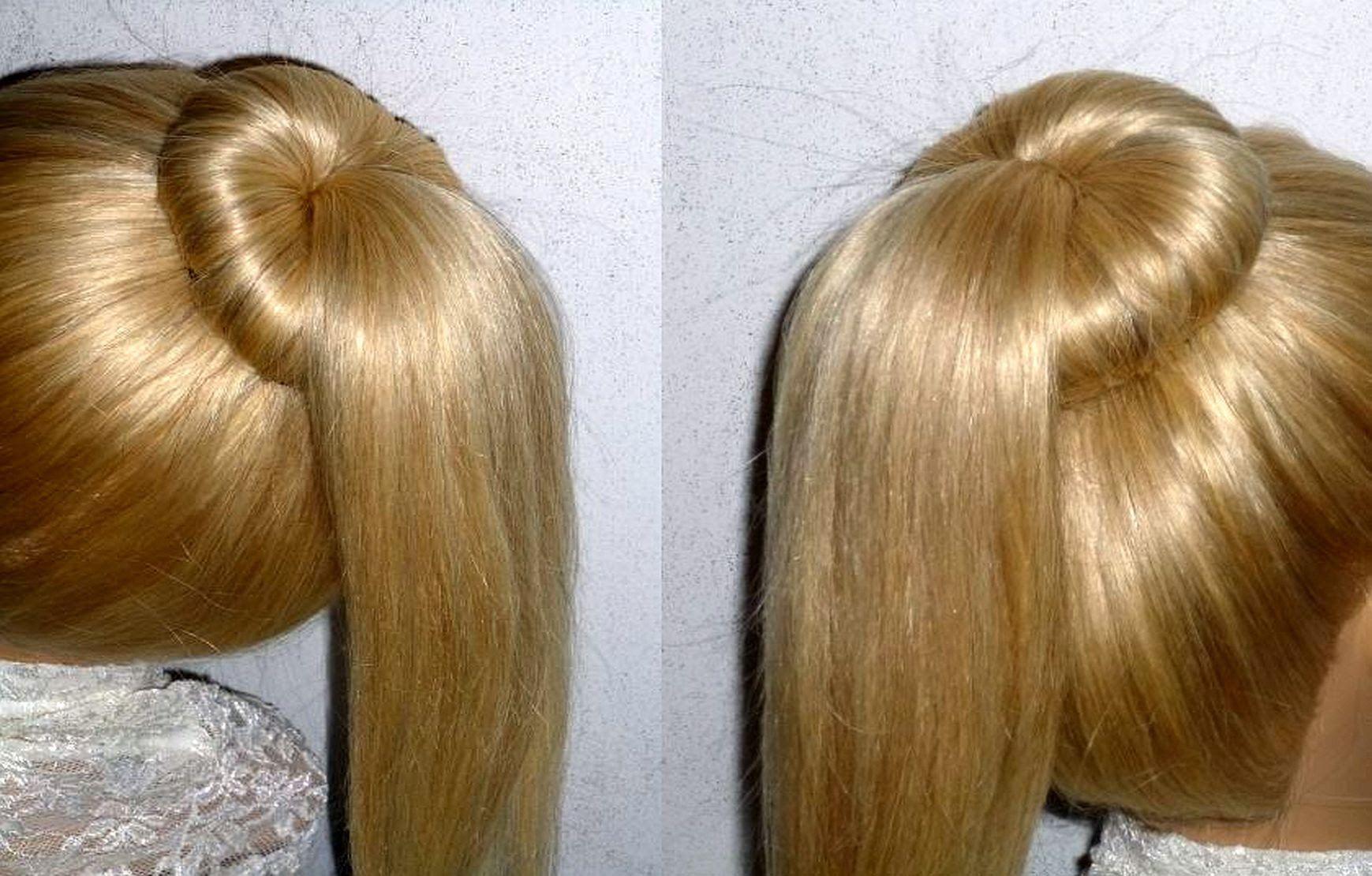 Easy Frisuren Dutt Mit Duttkissen Machen Fur Mittel Langes Haar Ponytai Haare Hochstecken Dutt Frisur Geflochtene Frisuren