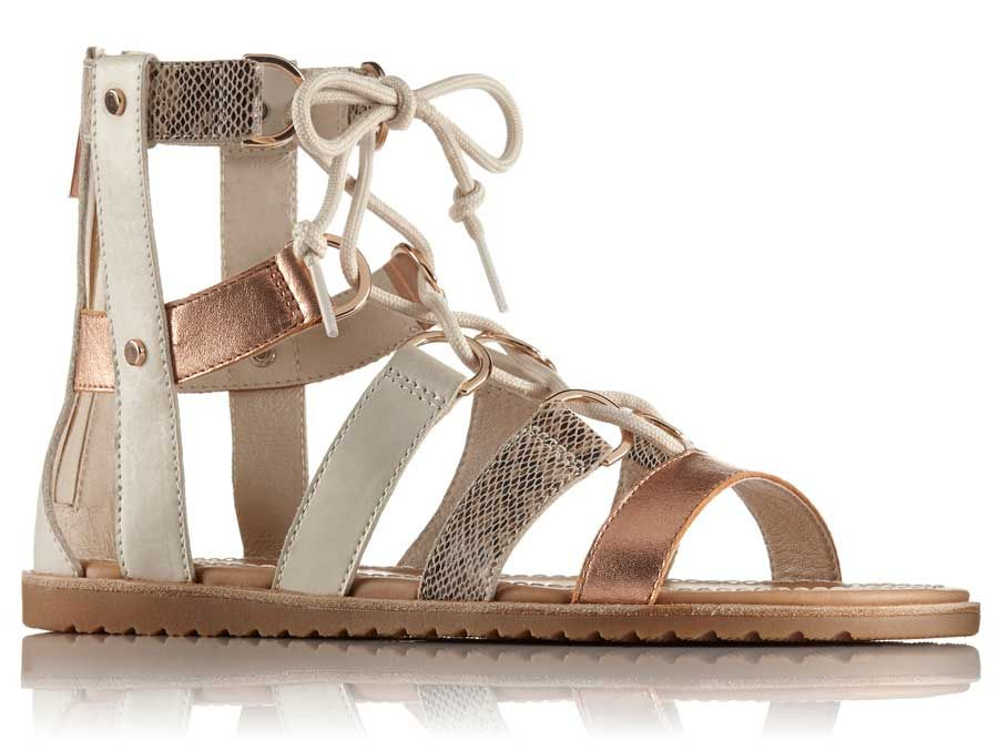 e7cad6c76 Sorel Womens Ella Lace Up Gladiator Sandals in Natural 1775741-120 ...