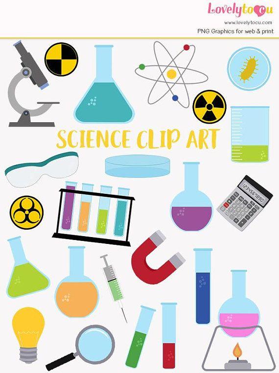 science laboratory clip art set scientist chemistry
