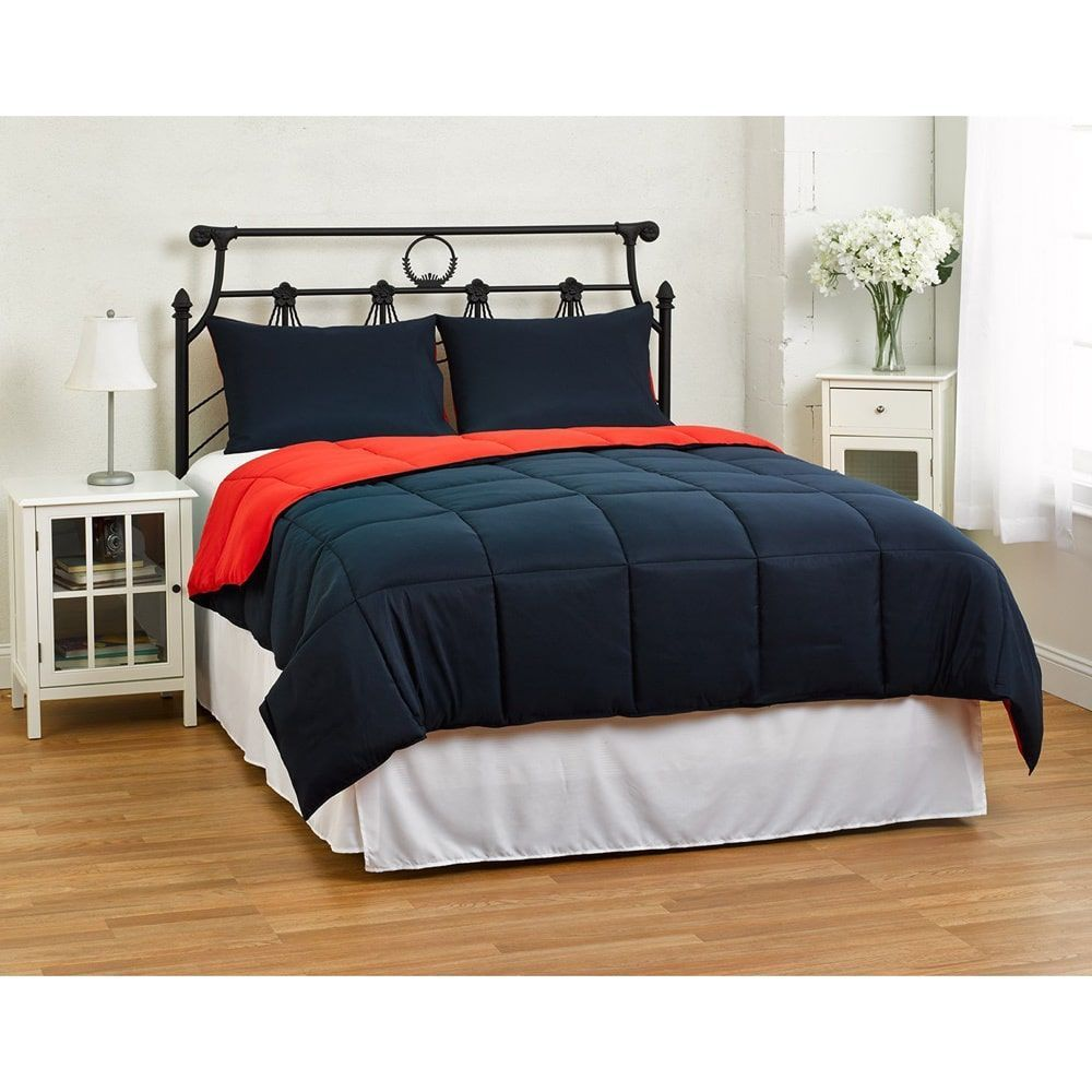 Best Contemporary Modern All Season Reversible Comforter Set With Two Hypoallergenic Shams As Is 640 x 480