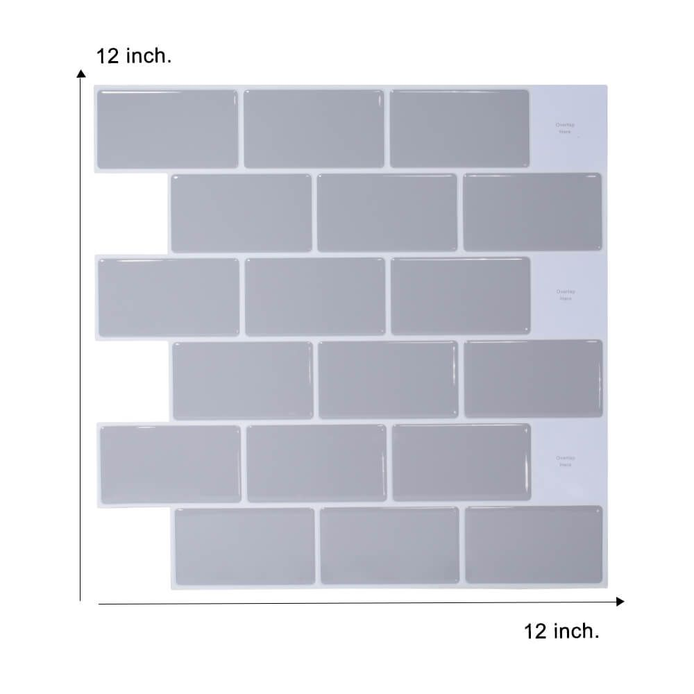 Gray Peel And Stick Subway Tile Backsplash Clever Mosaics In