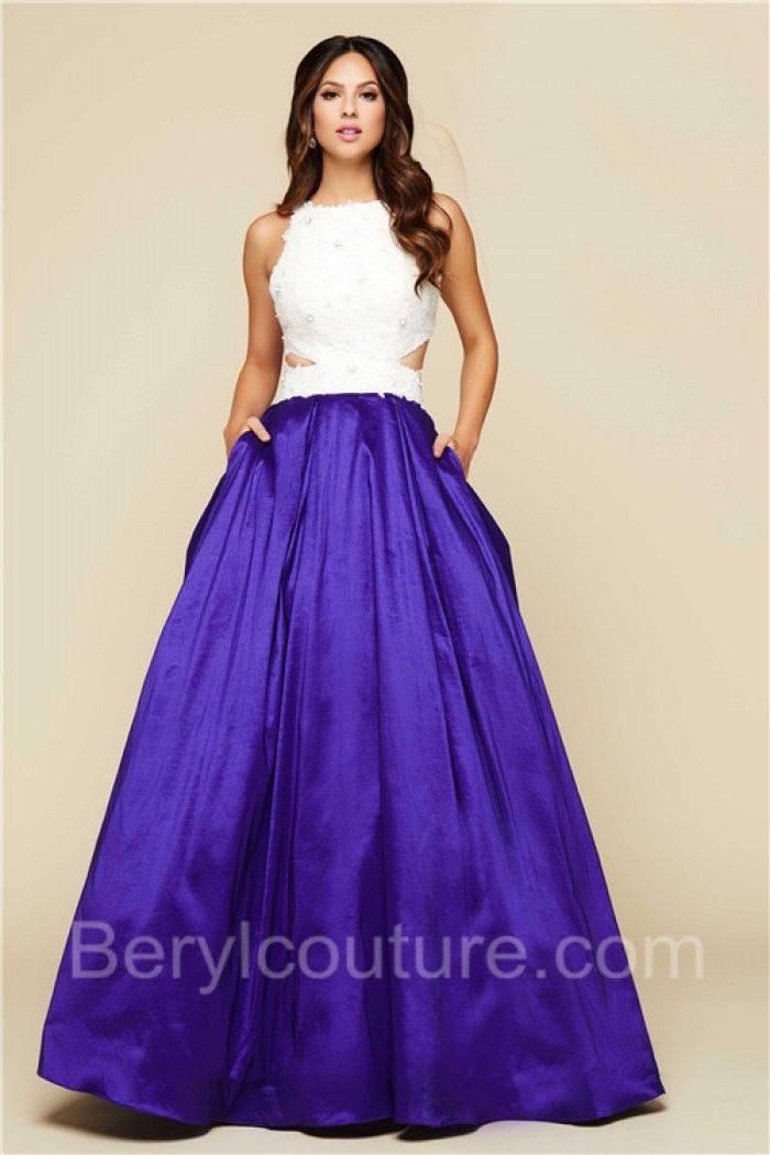 Taffeta Dress with Pockets