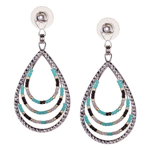 JJ Caprices - Beaded Drop Earrings by LK Designs