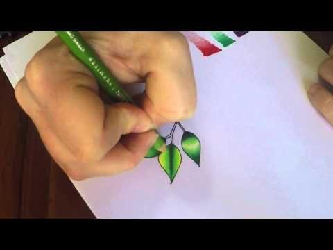 Basic shading and blending tutorial using Prismacolor Premier pencil - YouTube (Sam Mac)