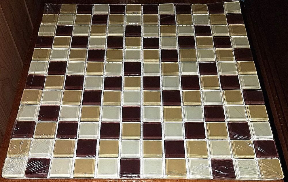 5 Elida Glass Mosiac Sheets 349145 Multi Brown 5 Sheets 12x12 Glass Mosiac Kitchen Tiles Backsplash Glass Wall