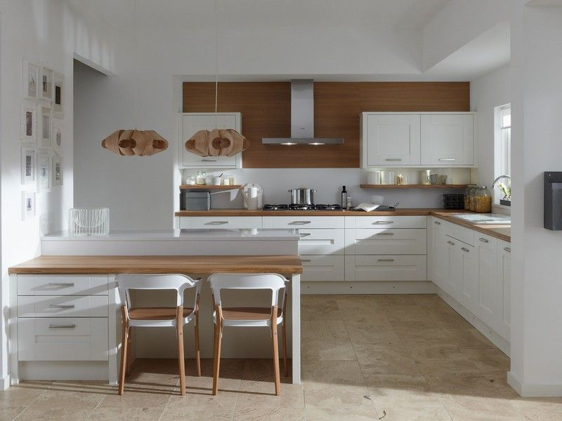 Wonderful White Stools For Kitchen L Shaped Kitchen With Breakfast Bar L  Shaped Kitchen Design 330 36