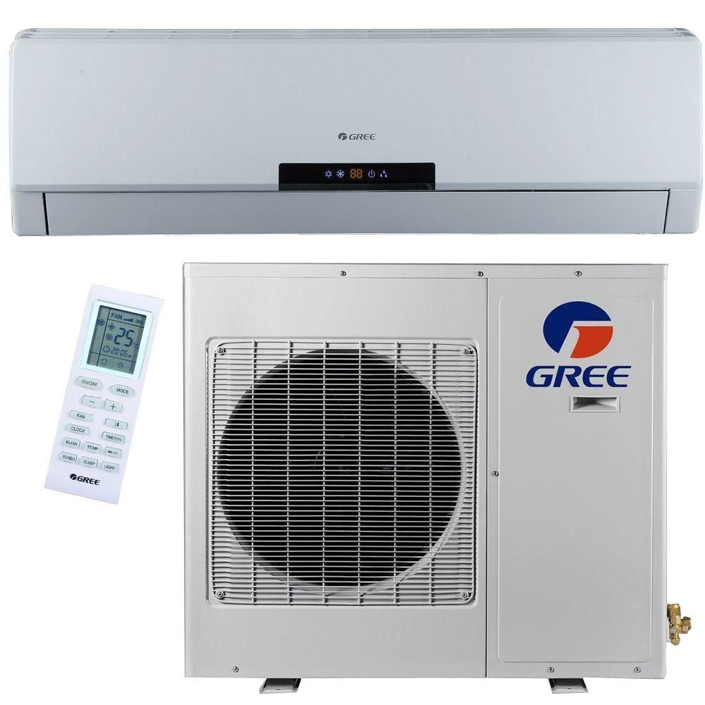 Gree Premium Efficiency 12 000 Btu 1 Ton Ductless Duct Free Mini Split Air Conditioner With I Air Conditioner Inverter Ductless Mini Split Heat Pump System