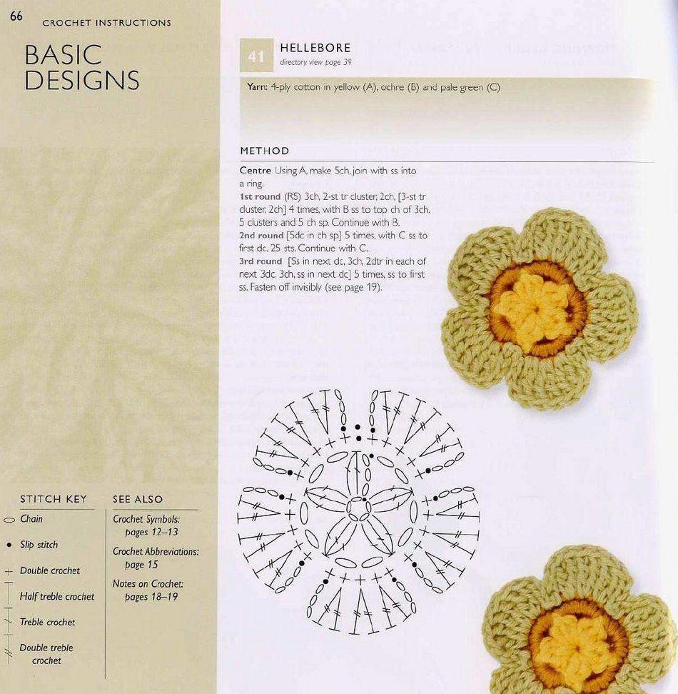 Pin de My Nguyen en 100 flowers to knit & crochet | Pinterest