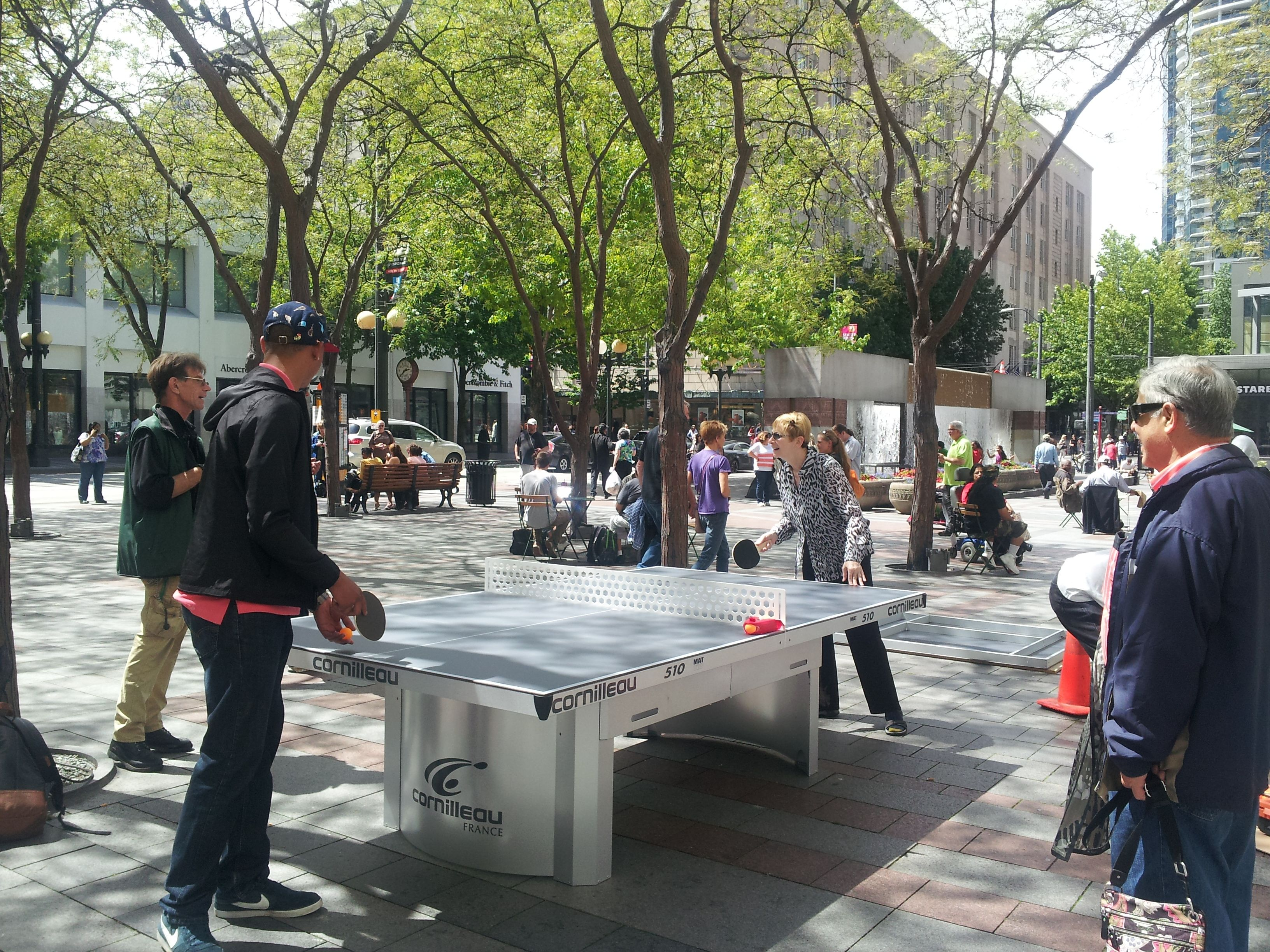 Downtownu0027s Westlake Park has BYOP ping pong tables
