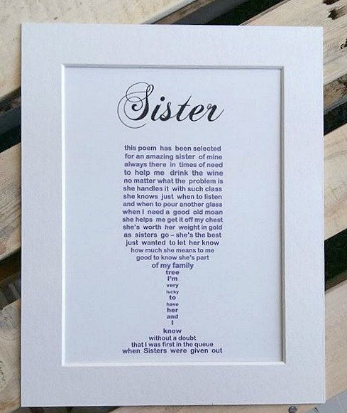 Sister Christmas Gift Unframed Birthday Gift For Sister Family Christmas Gifts Unique Gift For Sister Personalised Sister Gifts Personalised Gifts For Sister Birthday Gifts For Sister Christmas Gifts For Sister