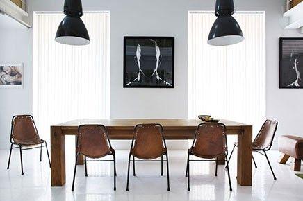 Bruine leren eetkamerstoel inspiratie interieur