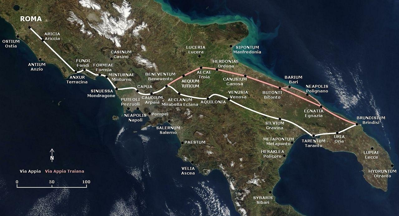 The Appian Way Italy military road
