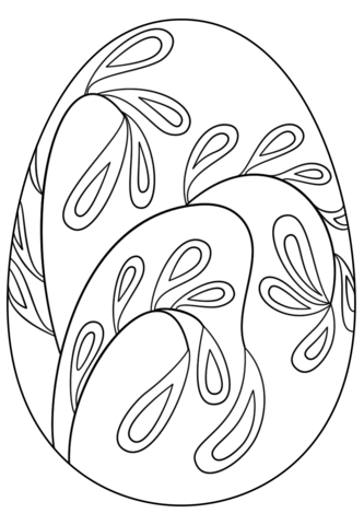 Easter Egg With Floral Pattern Coloring Page From Eggs Category Select 24652 Printable