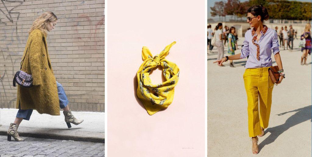 in stijl met geel