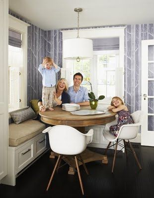 Round Dining Nook Breakfast Nook Table Home Kitchens