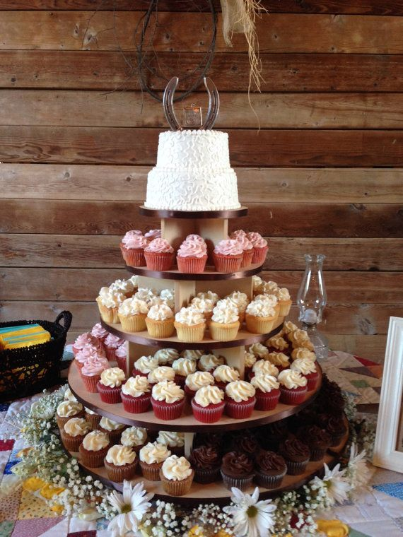 5 Tier Xtra Large Cupcake Stand Round 150 Cupcakes Threaded Rod And Freestanding Style Mdf Wood Tower Wedding Birthday