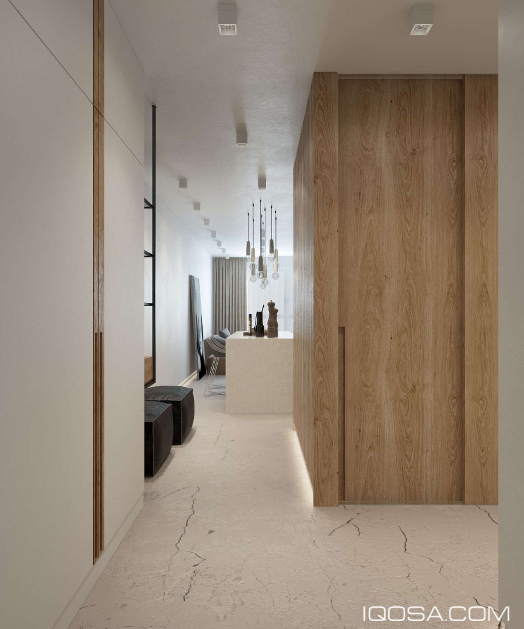 An Approachable Take On Luxury Apartment Design  Modern hallway