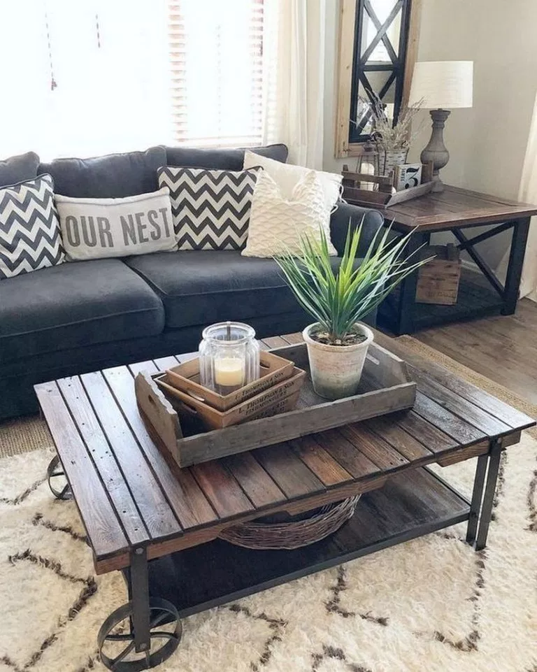 96 Cozy Small Living Room Decor Ideas On A Budget For Your Apartment 46 Wall Decor Living Room Rustic Farmhouse Decor Living Room Rustic Living Room