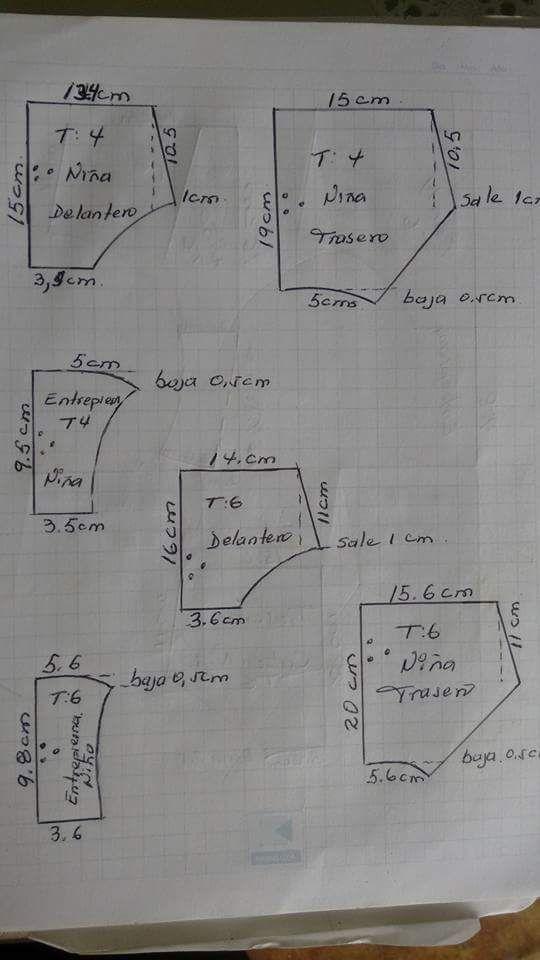 a3f409d89 Panty niñas: T= 6 y 4 | molde y patrones | Ropa interior para niños ...
