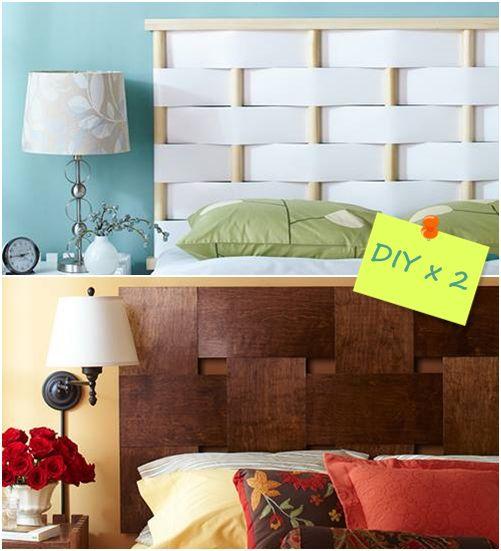 Cabeceros de cama originales para hacer con tiras entrelazadas 1 ...