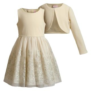 Girls 4-6x Youngland Textured Mesh Dress & Shrug Set | Kohls