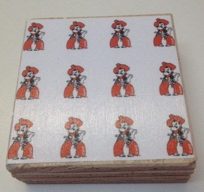 Oklahoma State Cowboys Stone Coasters by PandNCreations on Etsy, $12.00