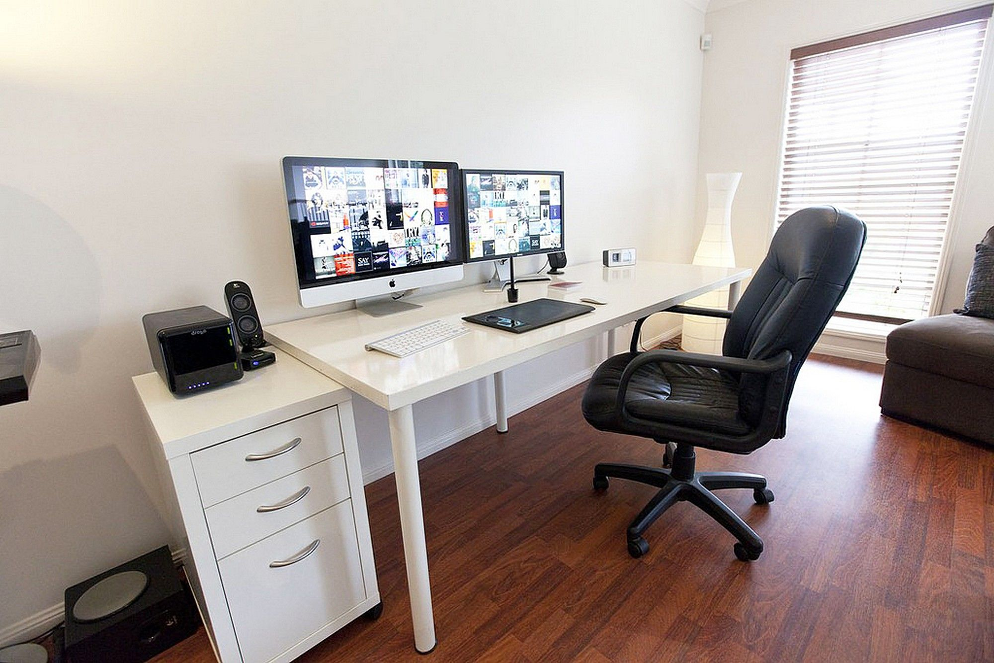 Home Office Desk Setup Ikea Linnmon Adils Computer Desk Setup With Drawer For